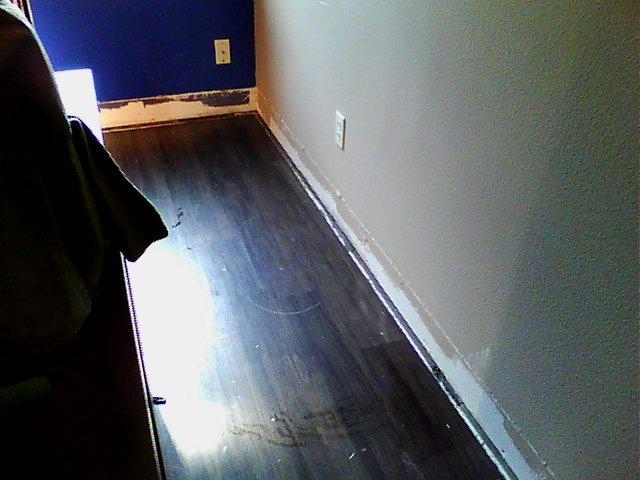 Wet wood floor