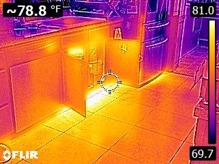 Thermal Image kitchen slab leak