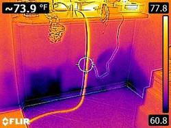 Wet Wall Leak Detection. The water leak detectors, leak detection, leak detection company, leak dete