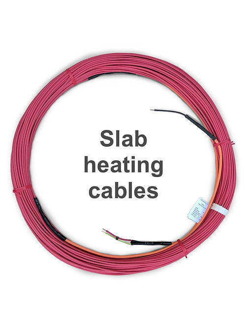 Slab heating cables
