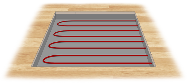 Slab cables shown in floor