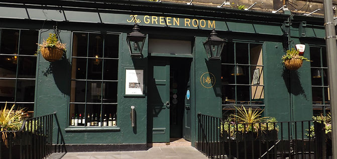 A photo of the front of The Green Room Wine Bar