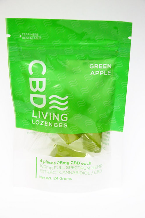 CBD Living Green Apple Lozenges