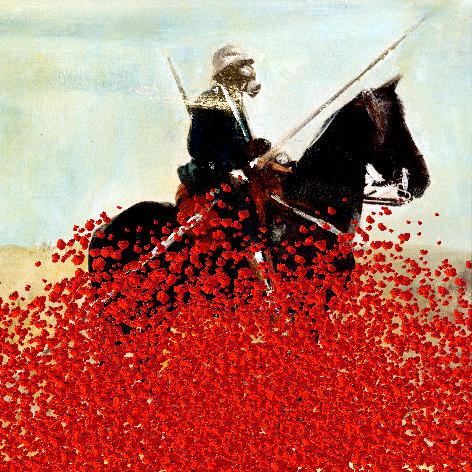 Soldat et fleurs