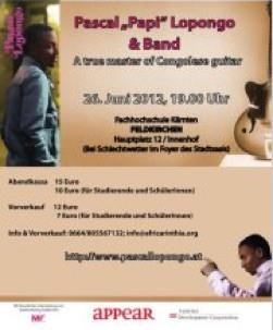Konzertveranstaltung Pascal Lopongo und Band