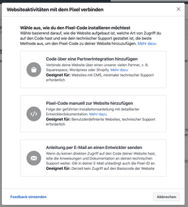 Facebook Pixel Tracking auf Website einbauen