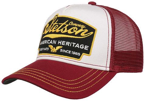 TRUCKER CAP AMERICAN HERITAGE STETSON BORDO OSFA