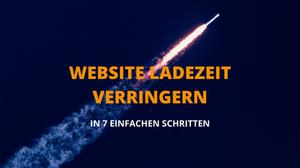 Website Ladezeit verringern