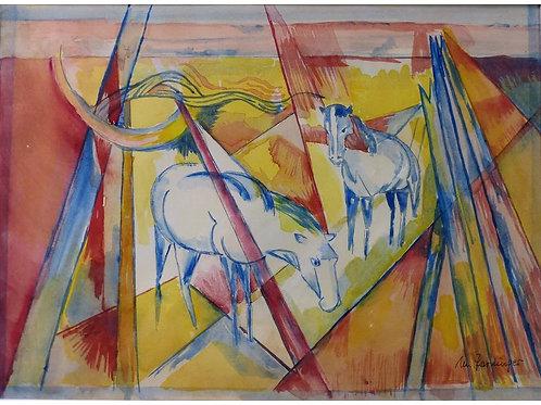 Pferde im Stil von Franz Marc