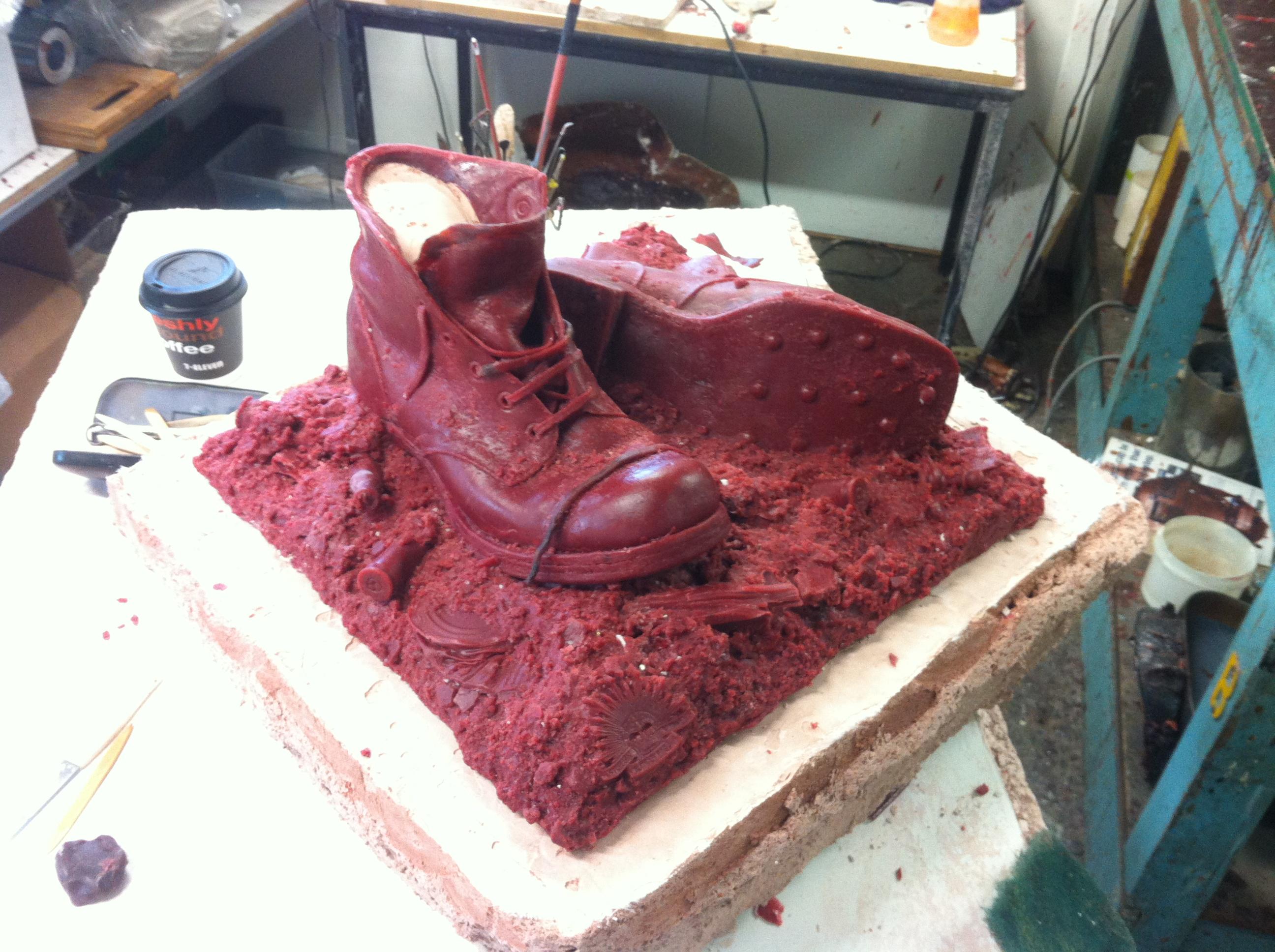 WW1 Bronze Boots. 22 4 16