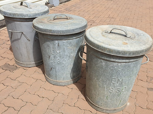 Solid metal dustbins