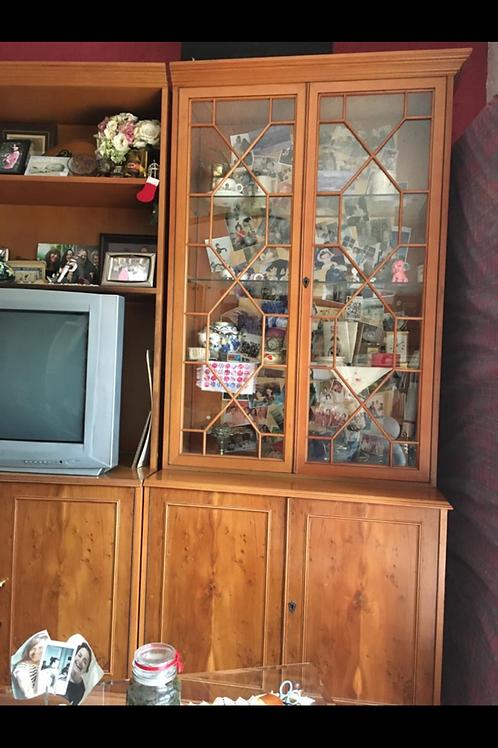 Gordon Fraser Wall Unit Cabinets - Yew Veneer