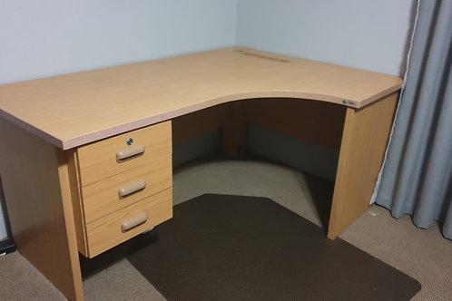 Wooden L-shape study table