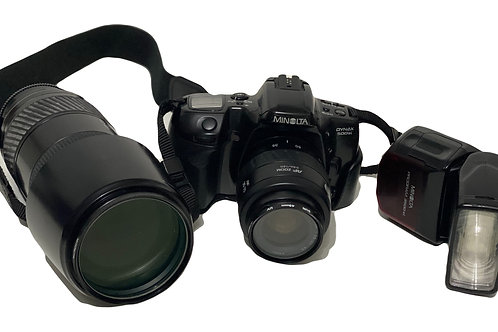 Minolta Dynax 500si, Extra Lens and Flash