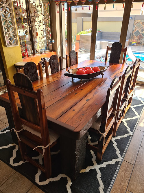 Solid Sleeper Wood Dining table set