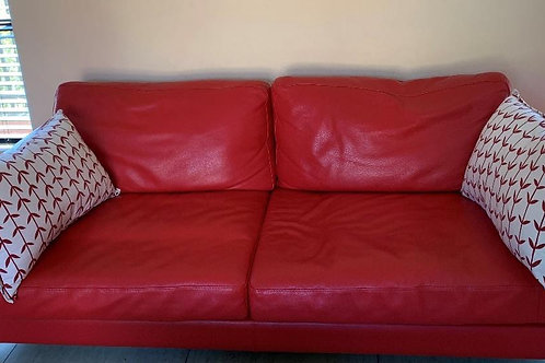 2 seater Italian leather sofas