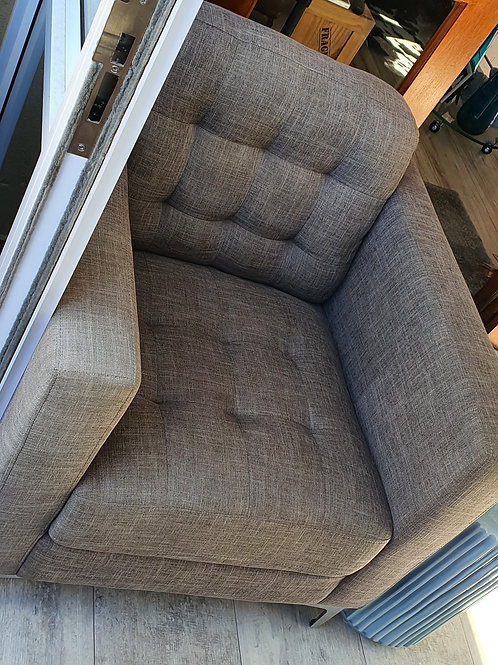 2 x Grey occasional arm chairs