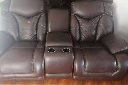 Ella 6 Seater Action Recliner Suite with Console Unit