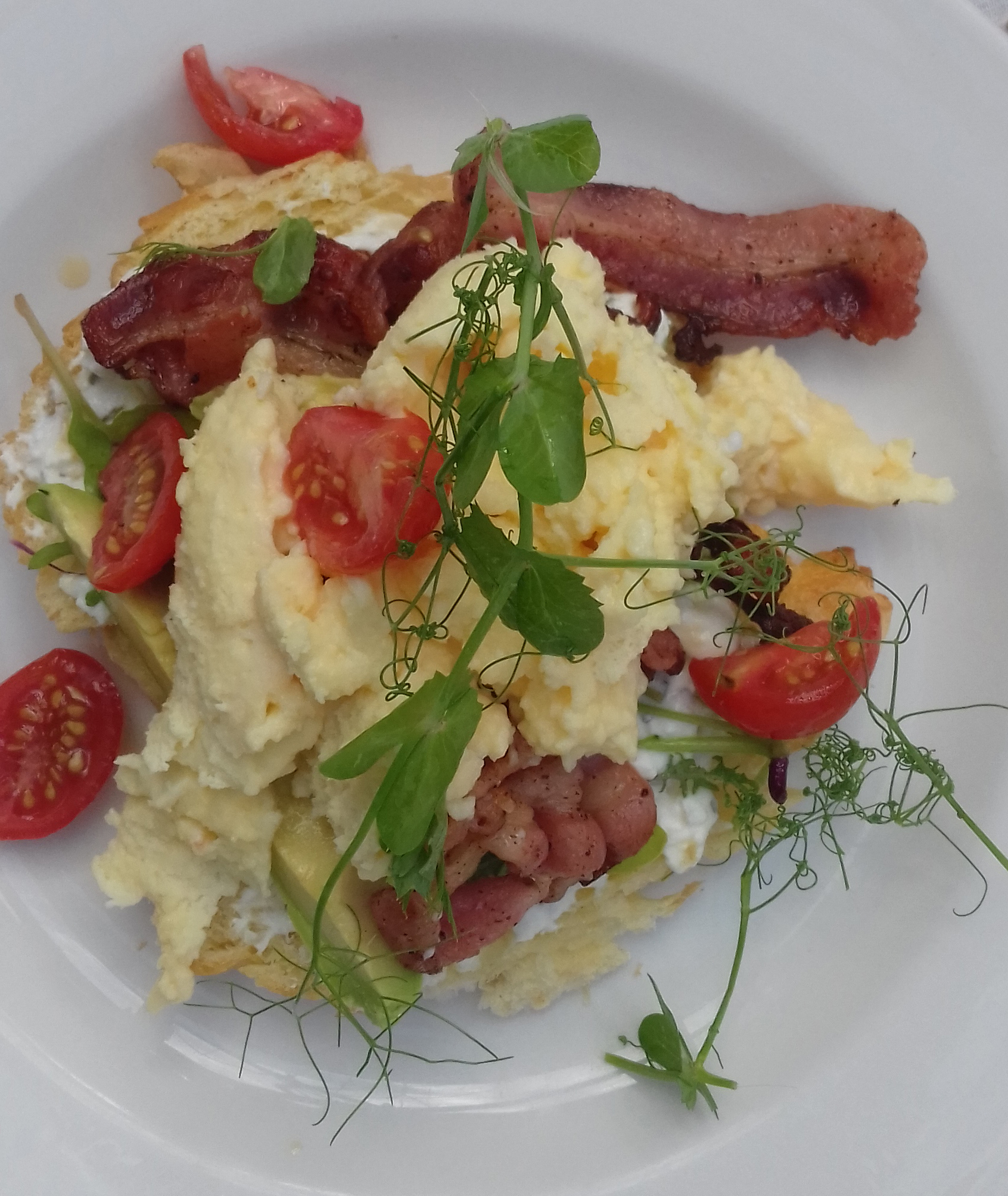 scrambled eggs villa breakfast