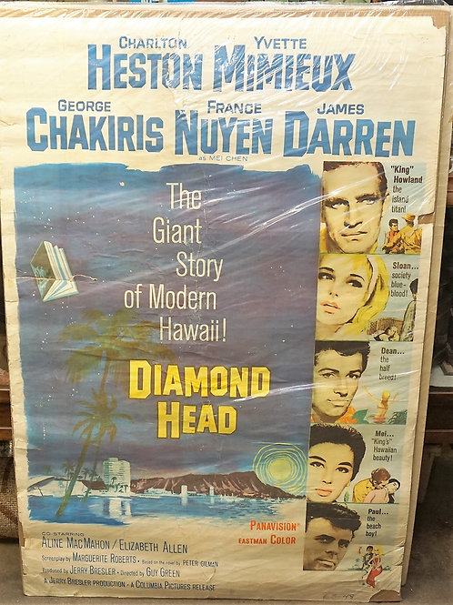 1950s-60s Movie Poster - Diamond Head