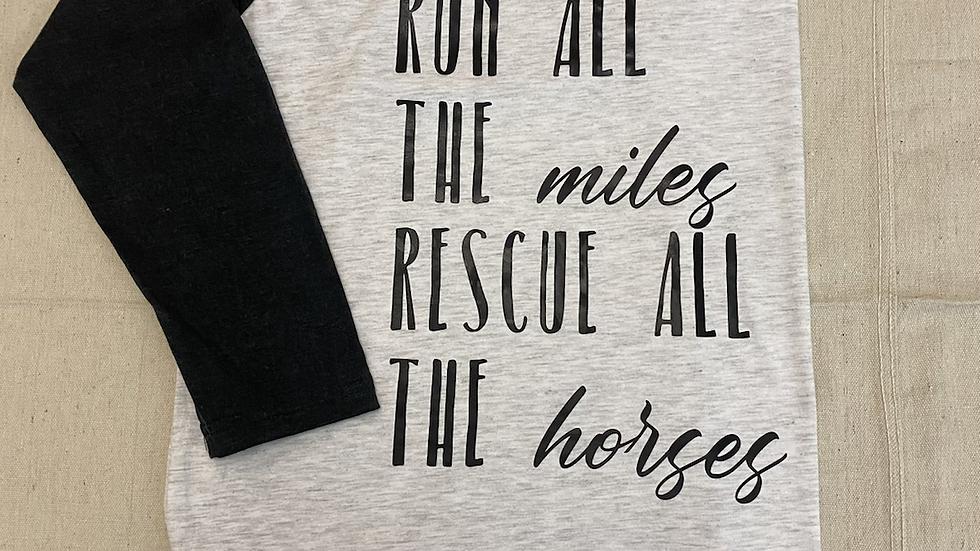 Run + Rescue Raglan
