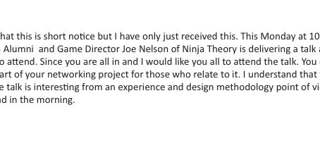 Joe Nelson - Game Director at Ninja Theory