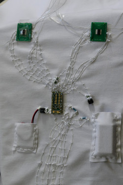 sewn in wrapping wire