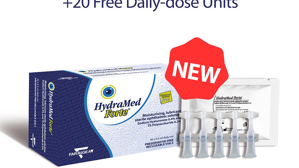HydraMed Forte Daily-dose Units - 6 x 30 x 0.5ml vials (+20 FREE