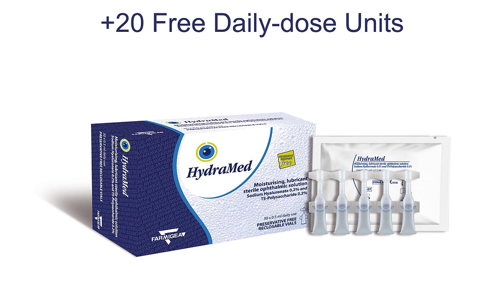 HydraMed Daily-dose Units - 6 x 30 x 0.5ml vials (+20 FREE)