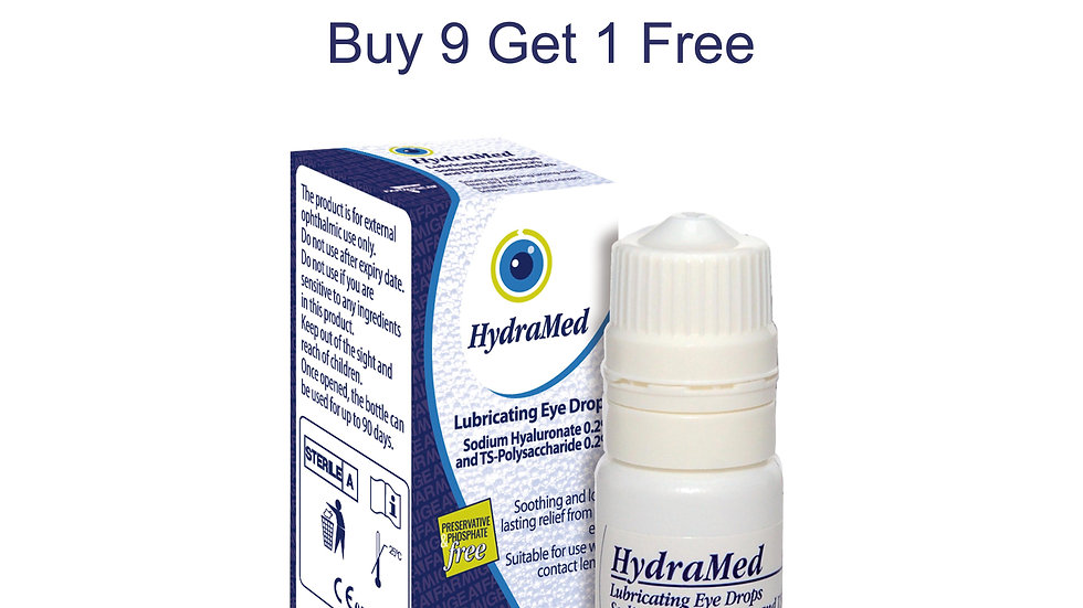 HydraMed 10ml Multidose - 10 x 10ml bottles (9 +1 FREE)