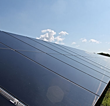 First Solar Series 6 Solar PV Panels mounted on Solar Racking