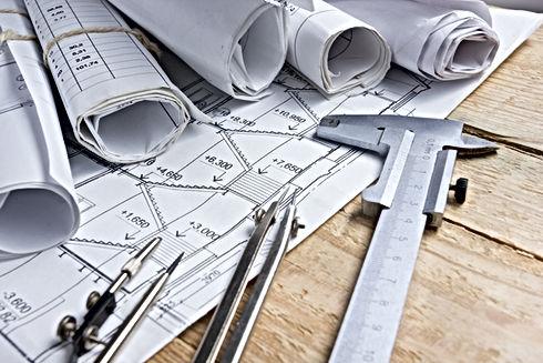 Architectural project, blueprints, bluep