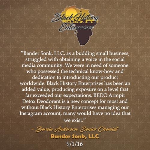 Bernie Anderson, Bander Sonk 9-1-16