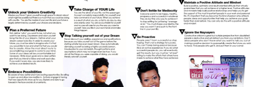 Two-Page Spread in Entrepreneurs of Color Magazine