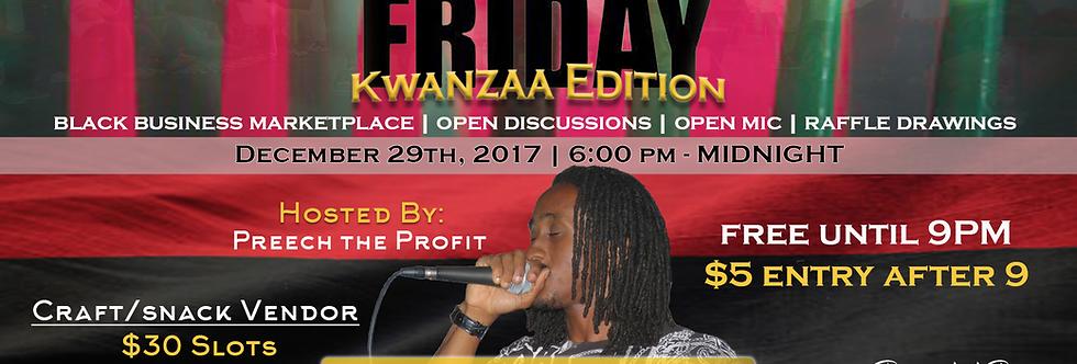 Black Friday: Kwanzaa Edition Craft/Snack Vendor