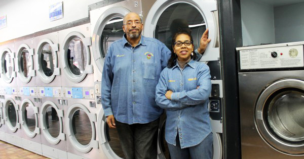 Darryl and Fylynne Crawford, owners of Kimbark Laundry in Chicago