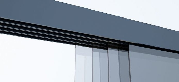 Glasschiebewand 3 Schienen 2940mm breit
