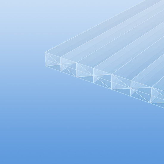 Stegplatten - Makrolon multi UV 5X/ 16 mm in farblos