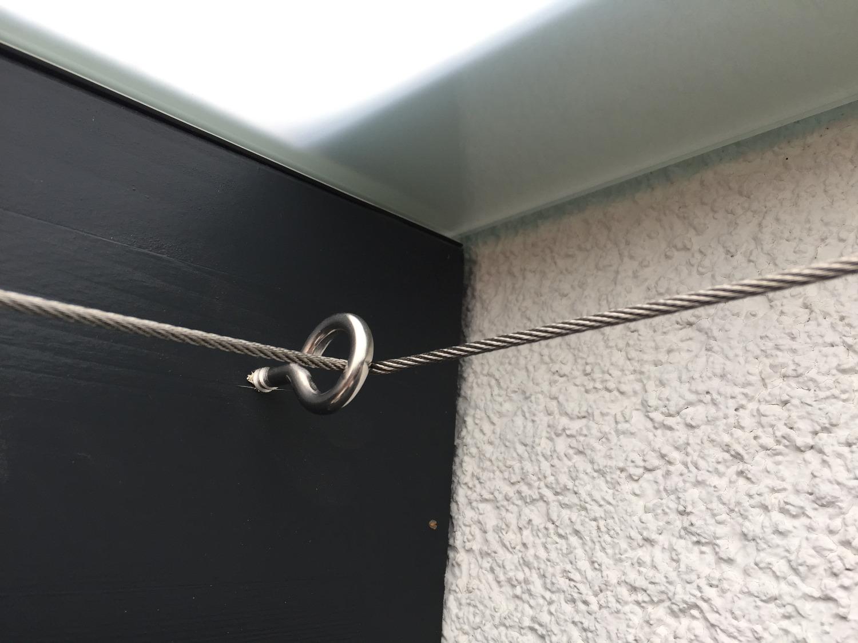 Befestigung Seilspannmarkise