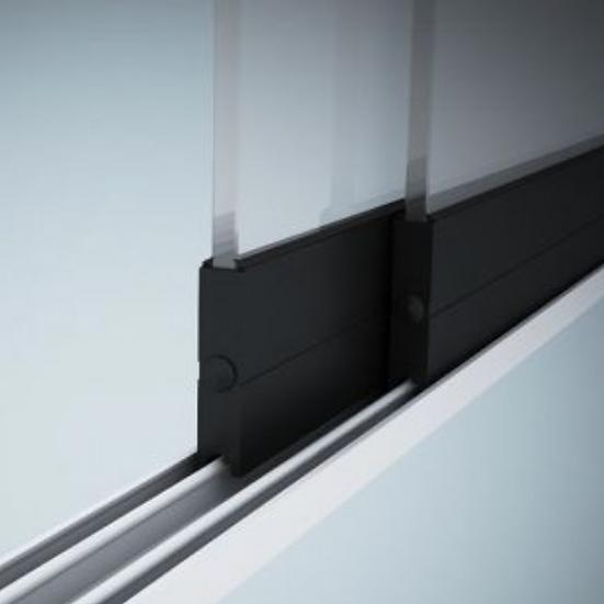Glasschiebewand 2 Schienen 1960mm breit