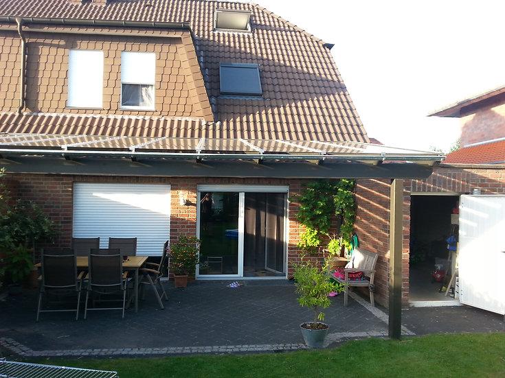 4m x 3,5m Terrassenüberdachung Holz mit VSG Glas