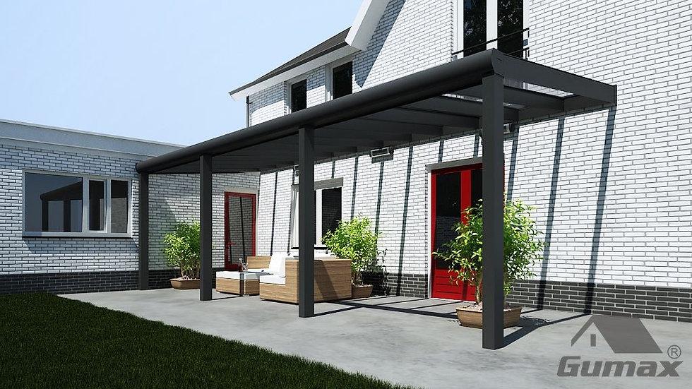 Alu Terrassenüberdachung Premium 5,06m x 2,50m