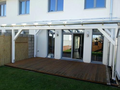 6m x 4m Terrassenüberdachung Holz mit VSG Glas