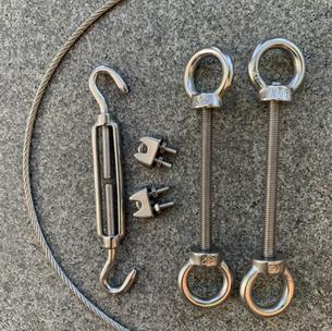Spannset Raffbeschattung Alu / Metall