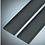 Thumbnail: U-Profil für Glasschiebewand Abschlussprofil Set Links/ Rechts