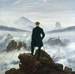 lone wandered, painting by Caspar David Frederich