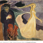 2 people, painting by Edvard Munch