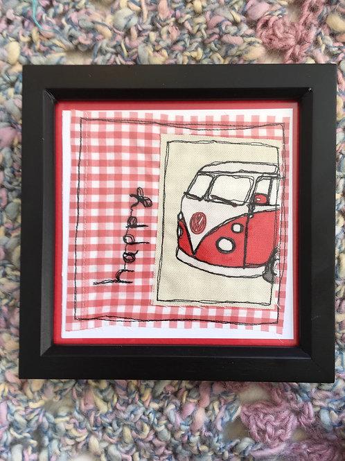Red Campervan 'happy' frame