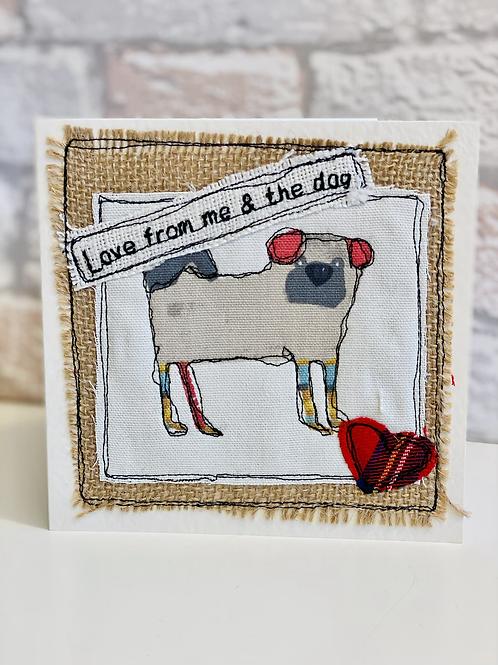 Dog valentines card