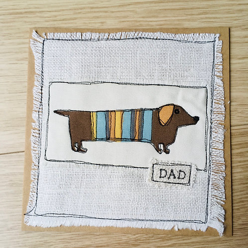 Doggie Fathers Day card